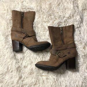 Born heeled booties 3 inch